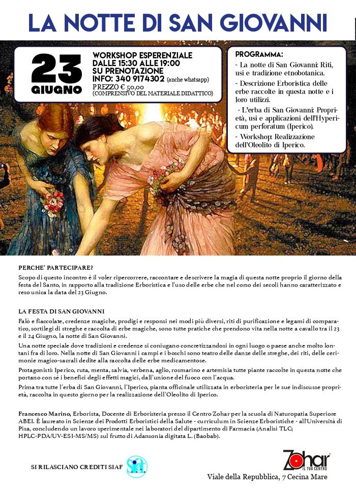 Festa di San Giovanni - Centro Zohar Dott. Francesco Marino