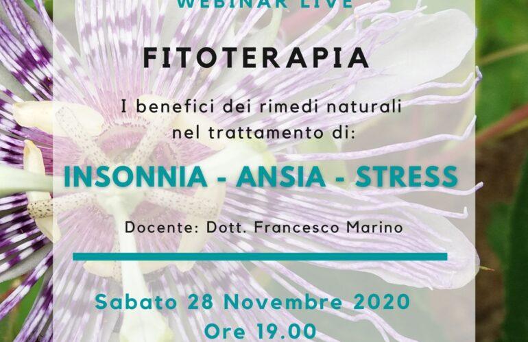 Webinar Live: I benefici dei rimedi naturali nel trattamento di INSONNIA – ANSIA – STRESS