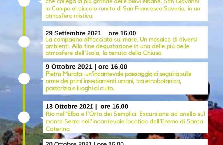 Calendario Erborare Isola d'Elba Autunno 2021